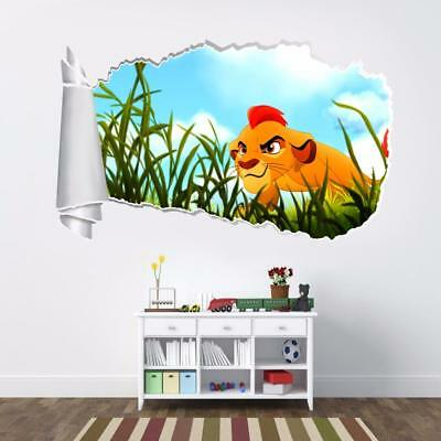 Large Mouth Bass 3D Torn Hole Ripped Wall Sticker Decal Art Fish Animals WT311