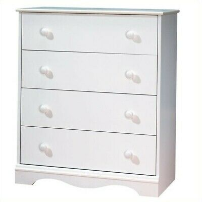 South Shore Andover 4 Drawer Chest Wood kids chest of drawers in White Finish