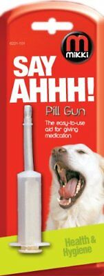 Mikki Pill Gun For Dogs And Cats Make Giving Tablets & Capsules Easy Worming Etc