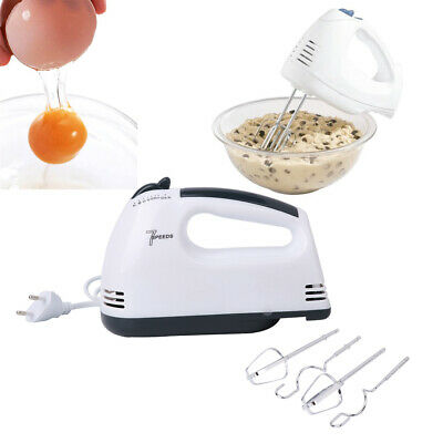 7 Speed Electric Hand Mixer Whisk Egg Beater Cake Baking Mains Powered 180W EU