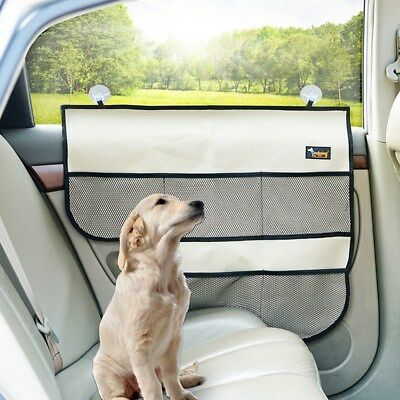 Newly Pet Car Door Barrier Dog Travel Auto Interior Protect Cover W/ Suction Cup