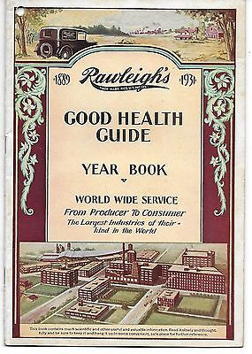 Vintage 1931 Rawleigh's Good Health Guide Yearbook - Medicines Extracts Spices