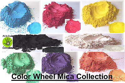 Wheel Color Mica Set Cosmetic Grade for Home Make up, Soaps, Skin Care, Crafts