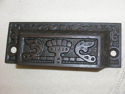 "Vtg Eastlake Cast Iron Drawer Pull Handle Ornate Design 3 3/8"" DIY Project"