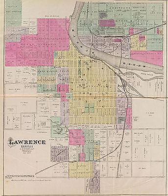 KANSAS STATE 1887 OFFICIAL ATLAS 481 old maps history land owners  DVD A40