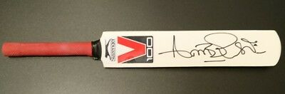 Curtly Ambrose West Indies cricket signed mini cricket bat AFTAL PROOF