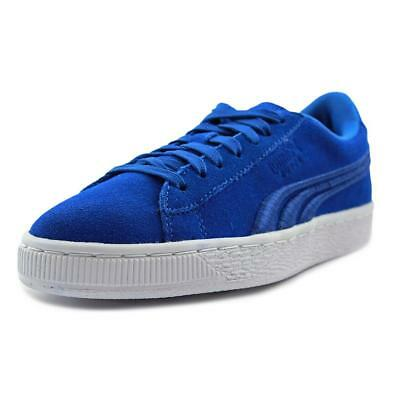 Puma Suede Classic Badge  Youth  Round Toe Suede Blue Sneakers