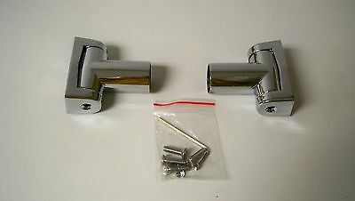 *NEW* Crescent 10-1201-C Curved Shower Rod Flange Pair