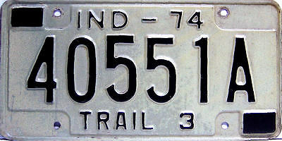 Plaque immatriculation usa INDIANA  n° 40551A