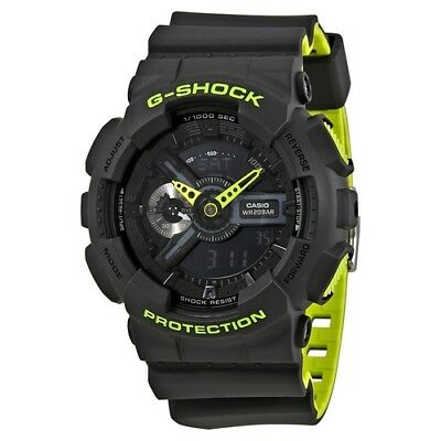 Brand new Casio G-Shock GA110LN-8A Anti-Magnetic Grey and NeonGreen Resin Watch