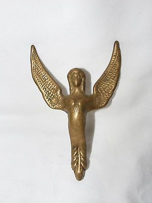 Antique French Empire Brass Sphinx Winged Creature Furniture Pediment Fitting