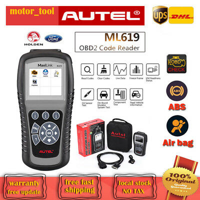 Autel MaxiLink ML619 OBDII Diagnostic Scan Tool ABS SRS For BMW Dodge Honda Jeep
