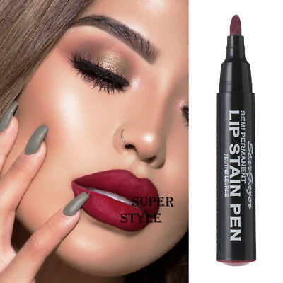 Stargazer MATTE DEEP DARK RED WINE SEMI PERMANENT LIP STAIN PEN Lipstick 03