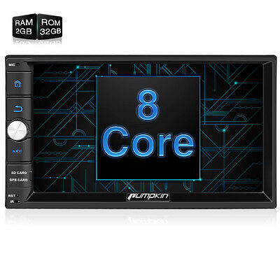 """Octa-core 2GB Double Din 7"""" 32GB Android 6.0 Car Stereo Radio GPS Navigation OBD"""