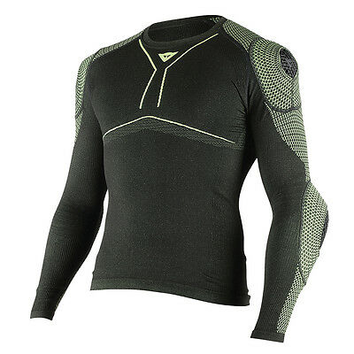 Dainese D-Core Armor LS Black / Fluo Yellow Motorbike Tee Base Layer All Sizes