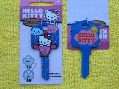 KW1 HOUSE KEY BLANK HELLO KITTY PINK for KWIKSET lock Made in The USA SR7