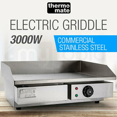 Thermomate Electric Griddle Grill BBQ Hot Plate Commercial Stainless Steel