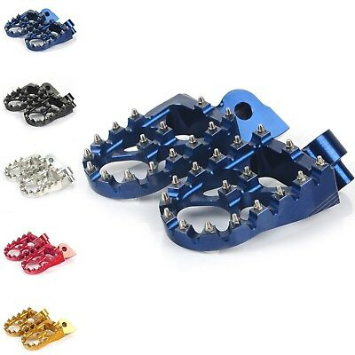 Off-road Yamaha MX Wide Fat Foot pegs Footrests YZ85 YZ125 YZ250 YZ250F YZ450F