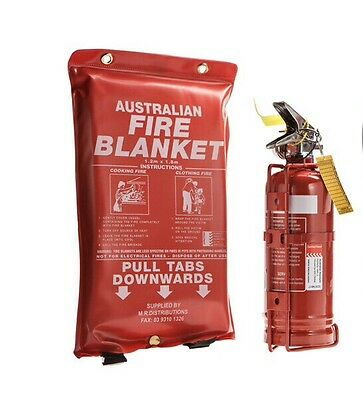 1kg Dry ChemFire extinguisher and Fire Blanket 1 meter X 1 meter