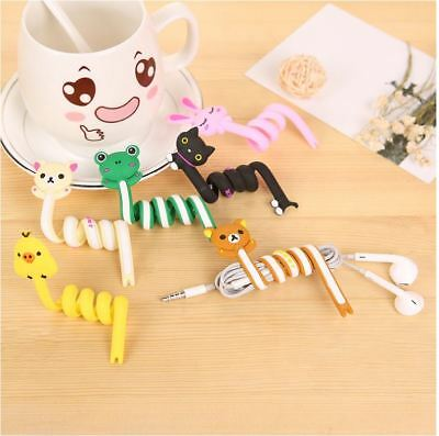 1Pcs Cartoon Earphone Headphones Wire Organizer Cable Cord Wrap Winder Holder