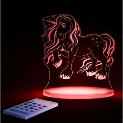 LED Night Light COLOR CHANGE Timer Remote control Sleepy Baby Kids ALOKA Unicorn