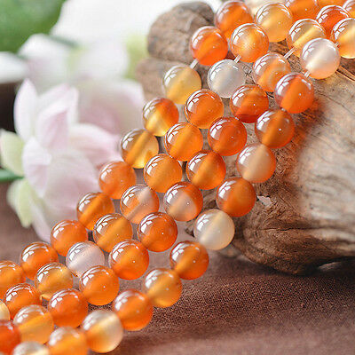 """Red Natural 5A Carnelian Agate Gemstone Round Loose Beads 15"""" 6mm 8mm 10mm 12mm"""