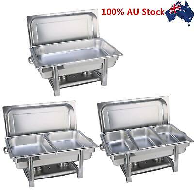9L Stainless Steel Chafing Dish Chafe Food Warmer Fuel Buffet Display Bain Marie