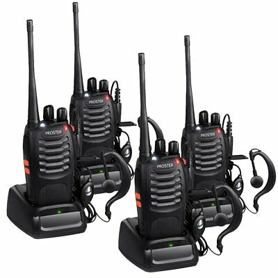 4x Baofeng BF-888S UHF 400-470 MHz 5W CTCSS Two-way Ham Radio 16CH Walkie Talkie