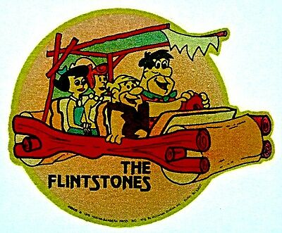 Vintage 1976 The Flintstones by Hanna Barbera Mini Iron-On Transfer RARE