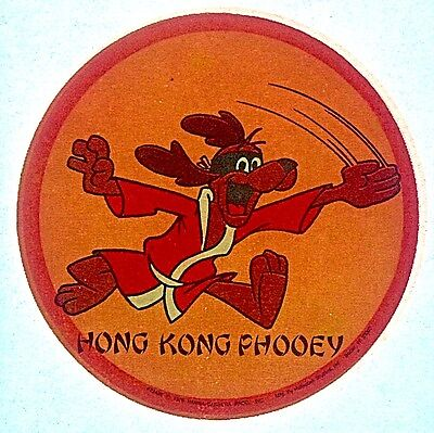 Vintage 1976 Hong Kong Phooey by Hanna Barbera Mini Iron-On Transfer RARE