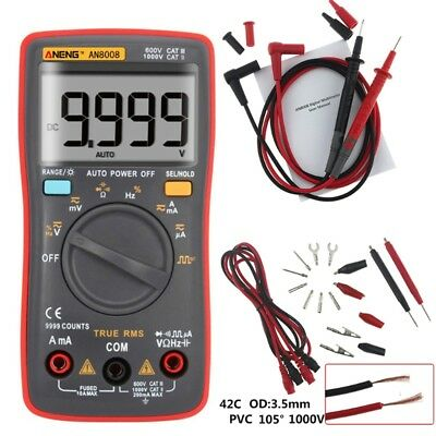 LCD AN8008 True RMS Digital Multimeter Voltmeter Ammeter AC DC Voltage Current
