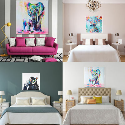 Modern Hand-painted Art Oil Painting Abstract Wall Decor Elephant on Canvas HOT