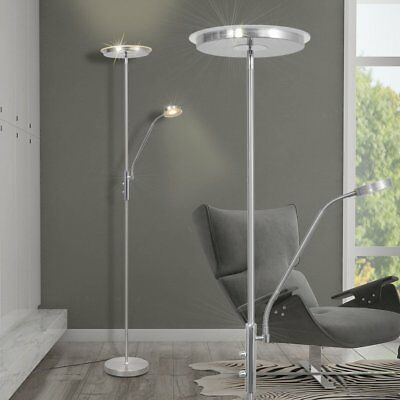 LED 23W Deckenfluter Stehlampe Stand Steh Lese Leuchte Beleuchtung dimmbar 180cm