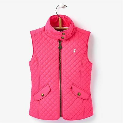 Joules Kids Silvan Gilet Jacket Sleeveless Junior Girls Zip Top Robinsons New