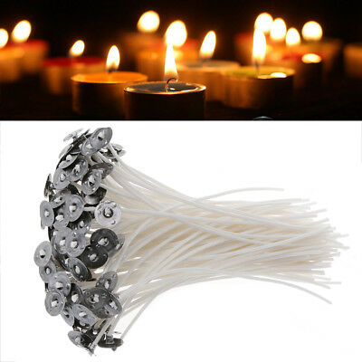 50pcs Candle Wicks Pre Waxed Wick Cotton Core for DIY Candles Making 8/'/' ZNQ