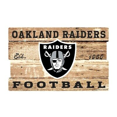 Oakland Raiders XXL Holzschild 76 cm ! !,NFL Football,Plank Wood Sign