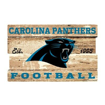 Carolina Panthers XXL Holzschild 76 cm ! !,NFL Football,Plank Wood Sign