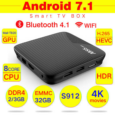 M8S PRO DDR4 Smart TV Box Android 7.1 S912 UHD 4K Movie Airplay WIFI & HDMI USB