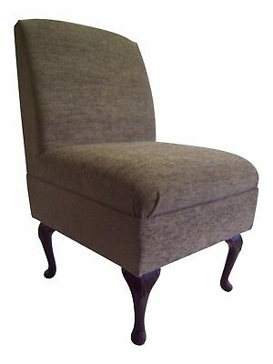 Bedroom Chair in  (Nuovo 2049) Truffle Chenille  Fabric on Queen Anne Style Legs