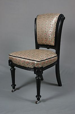 Antique 19th Century Walnut  Occasional Chair fully restored and reupholstered.