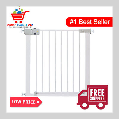 Safety 1st SecurTech Child Baby Pet Secure Pressure Fit Stair Metal Gate 73-80cm