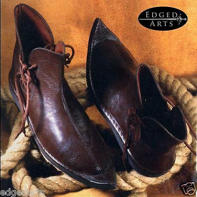 Viking Leather Shoes / Boots - Reenactment, Larp, Fancy Dress and Cosplay