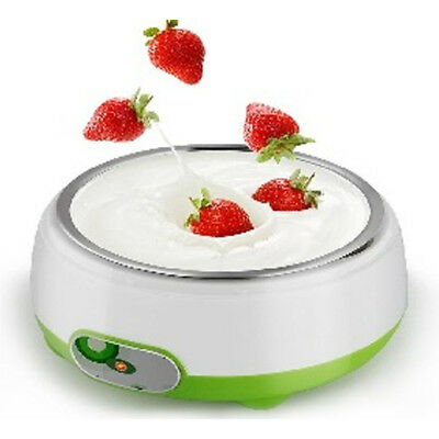 New Stainless Steel Electronic Automatic Yogurt Maker Container Machine DIY 220V