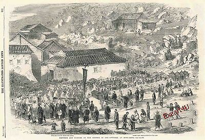 China Chinese Customs Culture History Engraving Print c1859