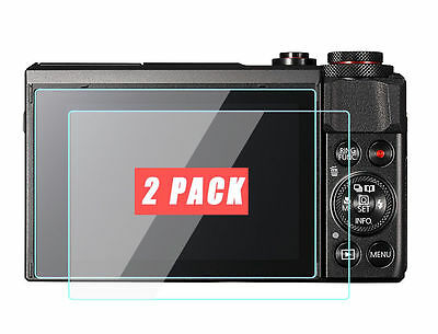 2 Pack Canon PowerShot G7 X Mark II G9 X Camera Screen Protector Tempered Glass