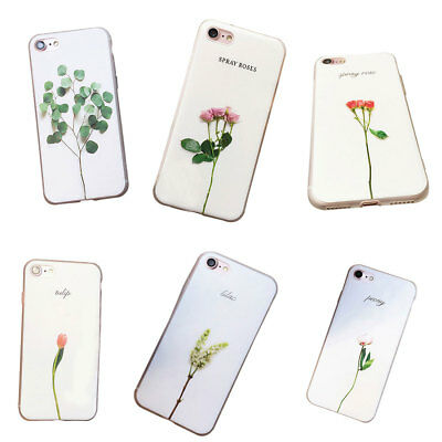 Plant Cactus Flower Rose Pattern Relief Ultra-Thin Silicone iPhone Case