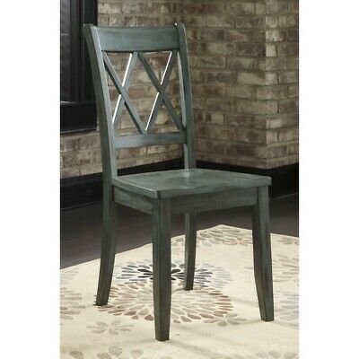 Ashley Mestler Dining Chair in Antique Blue and Green