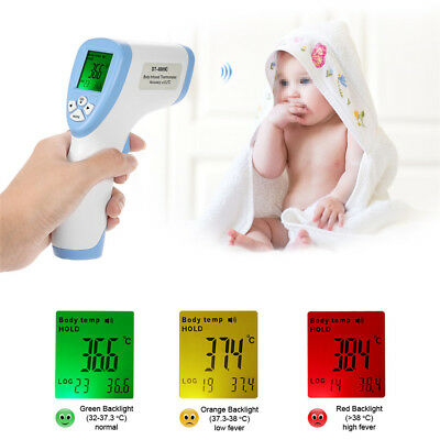 LCD Digital Thermometer Infrared Baby Adult Forehead Non-contact Termometro Gun