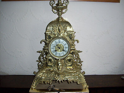 french antique large clock by AD mougin solid bronze