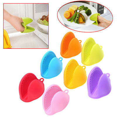 Heat Resistant Silicone Glove Oven Pot Holder Baking BBQ Kitchen Cooking Mitts